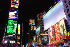 L'espace blanc de copie de Times Square de New York City Photo libre de droits