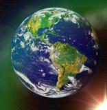 l'espace bleu abstrait de planète de la terre Images libres de droits