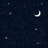 l 39 espace ciel toil avec la lune vecteur illustration de vecteur illustration du galaxie. Black Bedroom Furniture Sets. Home Design Ideas