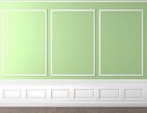 L'espace classique vert de copie de mur Image libre de droits
