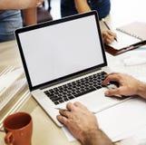 L'espace Co de copie de Creative Occupation Laptop d'architecte de studio de conception Photographie stock libre de droits