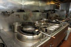 L'espace commercial de cuisine dans le restaurant asiatique photographie stock