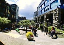 L'espace commun extérieur sur 1er Pike Rd à Seattle Images stock