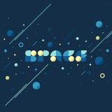 L'espace - concept plat de vecteur de galaxie en univers énorme illustration libre de droits