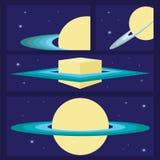 L'espace, conception graphique d'univers Bannières, layot, calibres d'insecte Photo stock