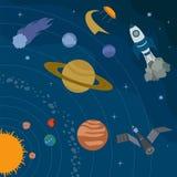 L'espace, conception graphique d'univers Bannières, layot, calibres d'insecte Photos stock