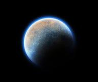 l'espace cosmique bleu de planète Images libres de droits