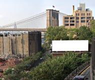 L'espace d'annonce de panneau-réclame de ville Images stock