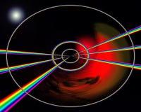 L'espace d'arc-en-ciel Image libre de droits