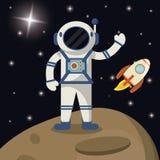 l'espace d'exploration de fusée d'astronaute illustration libre de droits