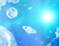 L'espace d'imagination et fond d'étoiles illustration stock
