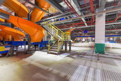 L'espace d'intérieur d'usine de la Chine Logistics Company Photographie stock