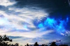 L'espace dans le ciel Photographie stock libre de droits