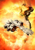l'espace de bataille Images stock