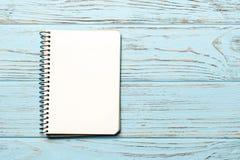L'espace de carnet de papier blanc pour le texte photos stock