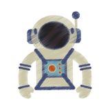 l'espace de casque de costume d'astronaute de dessin illustration stock
