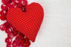 L'espace de coeur et de textes Image libre de droits