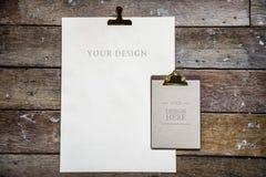 L'espace de conception sur les papiers blancs Photos libres de droits
