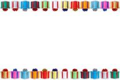 L'espace de copie de copyspace de cadeaux de Noël de carte d'anniversaire de cadeau de cadeaux images stock