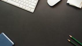L'espace de copie de bureau d'espace de travail Photos libres de droits