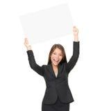 L'espace de copie de femme d'affaires Photo libre de droits