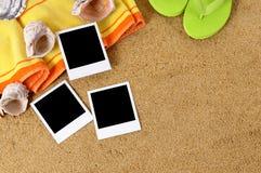 L'espace de copie de fond de plage d'album photos Image stock