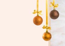 l'espace de copie de Noël de babioles Images libres de droits