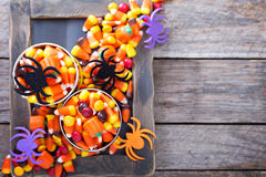 L'espace de copie de sucrerie de Halloween Photo libre de droits