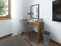 L'espace de fonctionnement avec un bureau Photo libre de droits