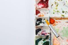 L'espace de fonctionnement de la peinture de couleur d'eau Photographie stock