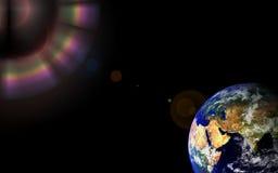L'espace de globe de la terre Images libres de droits