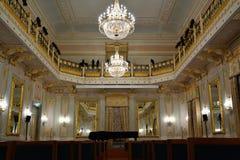 L'espace de luxe avec le piano Images libres de droits