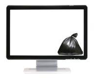 L'espace de message et sac d'ordures Image libre de droits