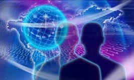 L'espace de sphère du monde image stock
