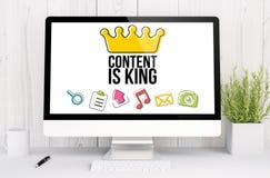 l'espace de travail blanc avec le contenu est roi Images stock