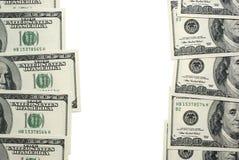 l'espace du dollar de billets de banque Photos libres de droits
