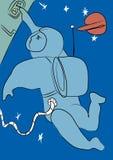 L'espace et astronaute illustration de vecteur