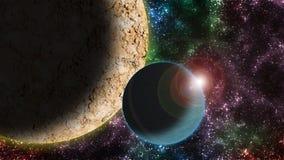 L'espace et planètes rêveurs illustration stock