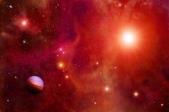 L'espace et planètes rouges Photos libres de droits