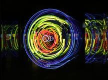 L'espace et temps, néon, xénon, lumières d'argon Images libres de droits