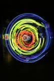 L'espace et temps, néon, xénon, lumières d'argon Image libre de droits