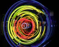 L'espace et temps, néon, xénon, lumières d'argon Photo stock