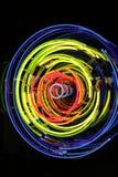 L'espace et temps, néon, xénon, lumières d'argon Photographie stock