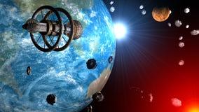 L'espace et vaisseau spatial Image libre de droits