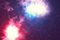 L'espace extra-atmosphérique est rempli de nombre infini des étoiles, galaxies, nébuleuses Beau fond coloré rendu 3d Images stock