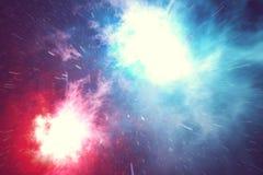 L'espace extra-atmosphérique est rempli de nombre infini des étoiles, galaxies, nébuleuses Beau fond coloré rendu 3d Photographie stock