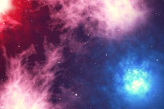 L'espace extra-atmosphérique est rempli de nombre infini des étoiles, galaxies, nébuleuses Beau fond coloré rendu 3d Photo libre de droits