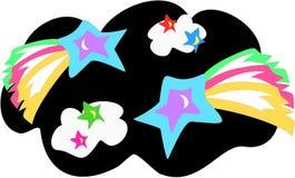 l'espace extra-atmosphérique stars vibrant illustration libre de droits