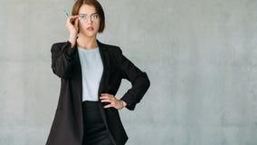 L'espace femelle de copie d'interne d'entreprise ambitieux photos stock