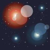 L'espace, fond éclatant de lumières Image libre de droits